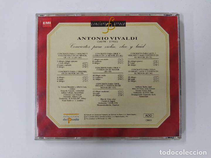 CDs de Música: CONCIERTO BARROCO - ANTONIO VIVALDI - CONCIERTOS PARA VIOLÍN, OBOE Y LAÚD - CD. TDKCD62 - Foto 3 - 288207263