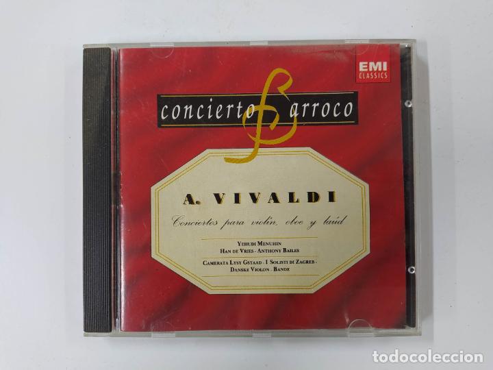 CONCIERTO BARROCO - ANTONIO VIVALDI - CONCIERTOS PARA VIOLÍN, OBOE Y LAÚD - CD. TDKCD62 (Música - CD's Clásica, Ópera, Zarzuela y Marchas)