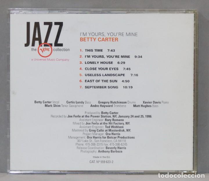 CDs de Música: CD. BETTY CARTER. I´M YOURS, YOU´RE MINE - Foto 2 - 288207328