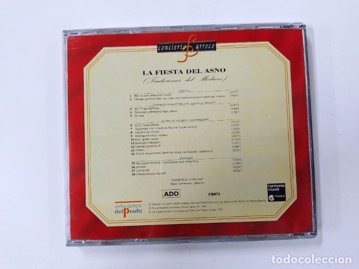 CDs de Música: CONCIERTO BARROCO. LA FIESTA DEL ASNO. TRADICIONES DEL MEDIEVO. CD. TDKCD62 - Foto 3 - 288207398