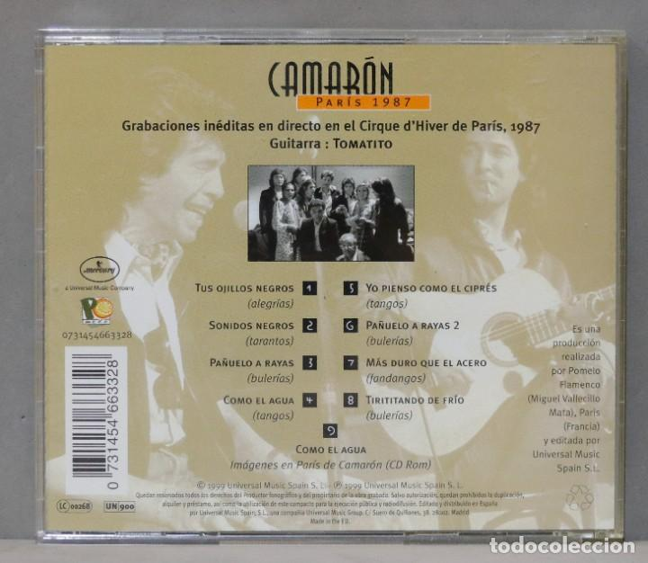 CDs de Música: CD. CAMARON. PARIS. 1987 - Foto 2 - 288207498