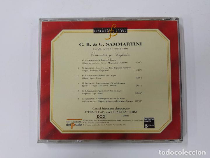 CDs de Música: CONCIERTO BARROCO. G.B. & G. SAMMARTINI. CONCIERTOS Y SINFONIAS. CD. TDKCD62 - Foto 3 - 288207568