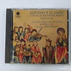 CDs de Música: ALFONSO X EL SABIO CANTIGAS DE SANTA MARÍA. JORDI SAVALL. CD. TDKCD62. Lote 288207988