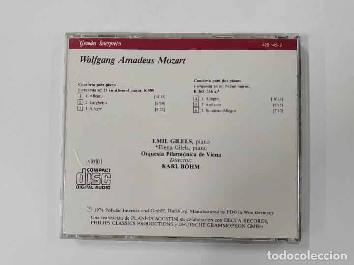 CDs de Música: GRANDES INTERPRETES GILELS. MOZART. CONCIERTO PIANO. CD. DEUTSCHE GRAMMOPHON. TDKCD63 - Foto 3 - 288211718