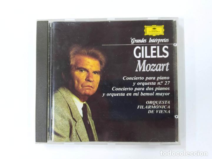 GRANDES INTERPRETES GILELS. MOZART. CONCIERTO PIANO. CD. DEUTSCHE GRAMMOPHON. TDKCD63 (Música - CD's Clásica, Ópera, Zarzuela y Marchas)