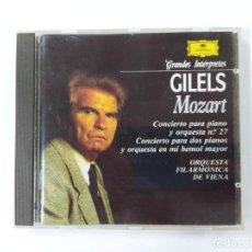 CDs de Música: GRANDES INTERPRETES GILELS. MOZART. CONCIERTO PIANO. CD. DEUTSCHE GRAMMOPHON. TDKCD63. Lote 288211718