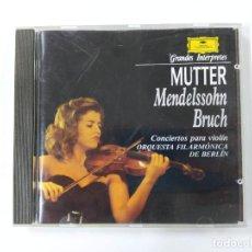 CDs de Música: GRANDES INTERPRETES. MUTTER.- MENDELSSOHN - ORQUESTA BERLIN. DEUTSCHE GRAMMOPHON. CD. TDKCD63. Lote 288211808