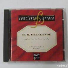 CDs de Música: CONCIERTO BARROCO - M. R. DELALANDE - SINFONÍAS PARA LAS CENAS DEL REY - CD. TDKCD63. Lote 288211948