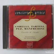 CDs de Música: CONCIERTO BARROCO - CONCIERTOS DE NAVIDAD - CORELLI - TARTINI - PEZ - MANFREDINI - CD. TDKCD63. Lote 288212083