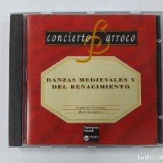 CDs de Música: CONCIERTO BARROCO. DANZAS MEDIEVALES Y DEL RENACIMIENTO. CD. TDKCD63. Lote 288213043