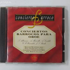 CDs de Música: CONCIERTO BARROCO - CONCIERTOS BARROCOS PARA OBOE. CD. TDKCD63. Lote 288213173