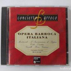 CDs de Música: CONCIERTO BARROCO. OPERA BARROCA ITALIANA. - CD. TDKCD63. Lote 288213818
