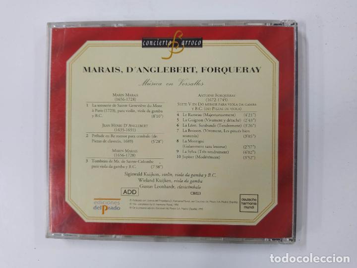 CDs de Música: CONCIERTO BARROCO. MARAIS. DANGLEBERT. FORQUERAY. MUSICA EN VERSALLES. CD. TDKCD63 - Foto 3 - 288214258