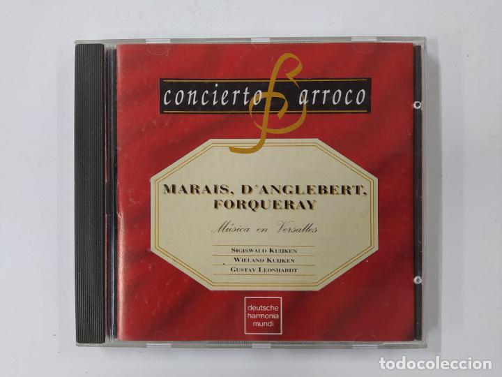 CONCIERTO BARROCO. MARAIS. D'ANGLEBERT. FORQUERAY. MUSICA EN VERSALLES. CD. TDKCD63 (Música - CD's Clásica, Ópera, Zarzuela y Marchas)