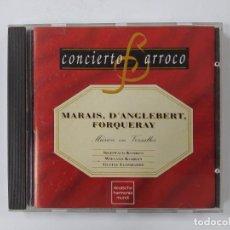 CDs de Música: CONCIERTO BARROCO. MARAIS. D'ANGLEBERT. FORQUERAY. MUSICA EN VERSALLES. CD. TDKCD63. Lote 288214258