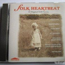 CDs de Música: CD FOLK HEARTBEAT 13 ORIGINAL FOLK CLASSICS STEELEYE SPAN , MARTIN CARTHY , SANDY DENNY ,. Lote 288312788