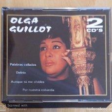 CDs de Música: OLGA GUILLOT (PALABRAS CALLADAS, DELIRIO, AUNQUE TU ME OLVIDES....) 2 CD'S 2001. Lote 288325468