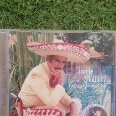 """CDs de Música: CD VICENTE FERNÁNDEZ """" ENTRE EL AMOR Y YO """". Lote 288358743"""