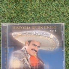 """CDs de Música: CD VICENTE FERNÁNDEZ """" HISTORIA DE UN IDOLO VOL.1 """". Lote 288359033"""