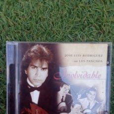 """CDs de Música: CD JOSE LUIS RODRÍGUEZ CON LOS PANCHOS """" INOLVIDABLE """". Lote 288376103"""