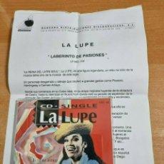 CDs de Música: LA LUPE SI TU NO VIENES CD SINGLE PROMO DEL AÑO 1993 ESPAÑA CON HOJA DE PRENSA CONTIENE 3 TEMAS. Lote 288381698