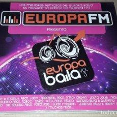 CDs de Música: 2 CD - EUROPA FM - EUROPA BAILA VOL.3 - JUAN MAGAN, JOSE DE RICO, LOLITA JOLIE, AVICII, TACABRO. Lote 288460653
