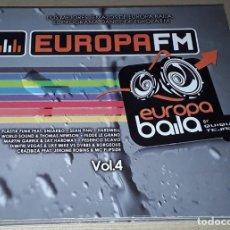 CDs de Música: 2 CD- EUROPA FM - EUROPA BAILA VOL.4 - QUIQUE TEJADA, TUJAMO, HARDWELL, CRAZIBIZA, SEAN FINN. Lote 288461123