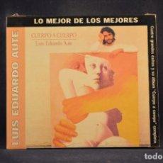 CDs de Música: LUIS EDUARDO AUTE - CUERPO A CUERPO (+ 4 GRANDES ÉXITOS) - CD. Lote 288469343