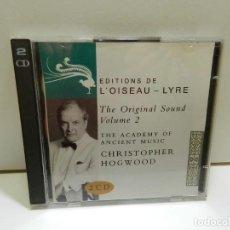 CD de Música: DISCO 2 X CD. CHRISTOPHER HOGWOOD – THE ORIGINAL SOUND VOLUME 2. COMPACT DISC.. Lote 288475028