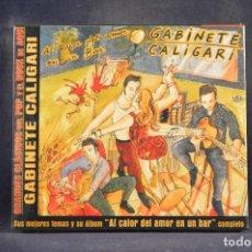 CDs de Música: GABINETE CALIGARI - AL CALOR DEL AMOR EN UN BAR (+ 4 GRANDES ÉXITOS) - CD. Lote 288475083