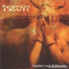 CDs de Música: NAPALM DEATH - LEADERS NOT FOLLOWERS CD 1999 PRIMERA EDICION UK- METAL. Lote 288486618