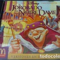 CDs de Música: CD LAS MEJORES CANCIONES DISNEY EL JOROBADO DE NOTRE DAME. Lote 288521498