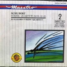 CD de Música: SCHUBERT, JUILLIARD STRING QUARTET - STRING QUARTETS NOS. 12 - 15 - DOBLE CD. Lote 288667418