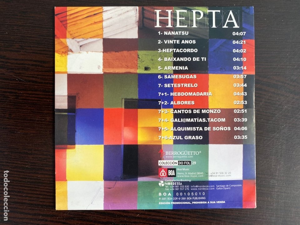 CDs de Música: Berrogüetto - Hepta (Colección Do FoL 29) (CD, Album) - Foto 2 - 288681653