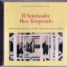 CDs de Música: WALTER CARLOS : EL SINTETIZADOR BIEN TEMPERADO - CD ORIGINAL ESPAÑA 1994 SONY MUSIC. Lote 288699328