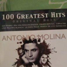 CDs de Música: ANTONIO MOLINA. 100 GREATEST HITS. 5 CDS. Lote 288737118