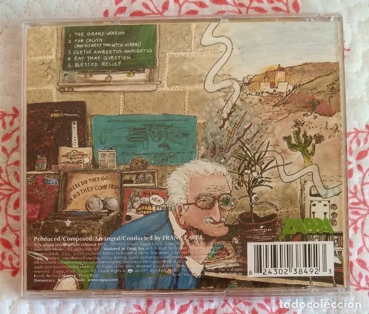 CDs de Música: FRANK ZAPPA - THE GRAND WAZOO CD NUEVO Y PRECINTADO - JAZZ FUSION ROCK PROGRESIVO - Foto 2 - 288741713