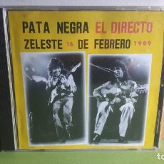 CDs de Música: PATA NEGRA - EL DIRECTO - ZELESTE 16 DE FEBRERO DE 1989 - 1994 - COMPRA MÍNIMA 3 EUROS. Lote 288944833
