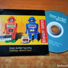 CDs de Música: ISAAC JUNKIE & SPUNKY TALKING ABOUT LOVE REMIX CD SINGLE PROMO CARTON AÑO 2005 MEXICO 3 TEMAS RARO. Lote 289006348