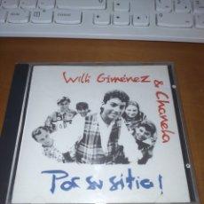 CDs de Música: WILLI GIMÉNEZ & CHANELA. POR SU SITIO. EDICIÓN DE 1992. MUY RARO.. Lote 289011268