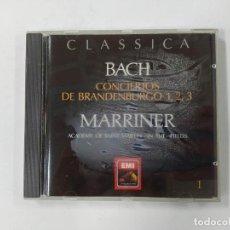CDs de Música: BACH. CONCIERTOS DE BRANDENBURGO 1, 2, 3. MARRINER. ACADEMY SAINT MARTIN CLASSICA Nº 29. CD. TDKCD75. Lote 289214338