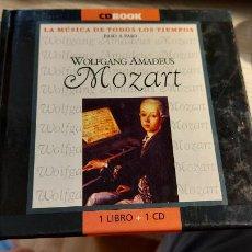 CDs de Música: CD.DE MOZART LA MUSICA DE TODOS LOS TIEMPOS PASO A PASO LIBRILLO+CD. Lote 289437698