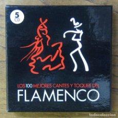CDs de Música: LOS 100 MEJORES CANTES Y TOQUES DEL FLAMENCO - 2010 - CAJA CON 5 CD'S. Lote 289443533