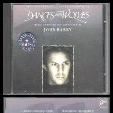 CDs de Música: D. CD. JOHN BARRY, DANCES WITH WOLVES.. Lote 289468103
