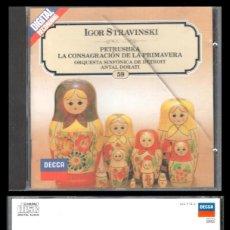 CDs de Música: D. CD. IGOR STRAVINSKI, PETRUSHKA Y DEMAS.. Lote 289476418