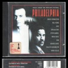 CDs de Música: D. CD. PHILADELPHIA. BRUCE SPRINGSTEEN, NEIL YOUNG Y DEMAS.. Lote 289503808