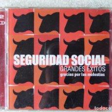 CDs de Música: SEGURIDAD SOCIAL.GRANDES EXITOS.GRACIAS POR LAS MOLESTIAS... CD + DVD. Lote 289503918