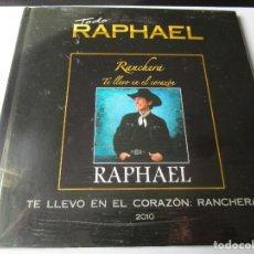 CDs de Música: CD LIBRO TODO RAPHAEL RANCHERA TE LLEVO EN EL CORAZON : QUE TE VAYA BONITO , PIENSA EN MI , ELLA ,. Lote 289506463
