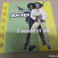 CDs de Música: EX-IT (CD/SN) I WANT IT ALL (2 TRACKS) AÑO – 1996. Lote 289524583