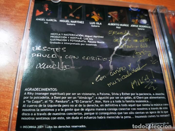 INSOMNIA CD ALBUM DEL AÑO 2009 HEAVY METAL AUTOGRAFOS CONTIENE 7 TEMAS FIRMADO MUY RARO ROCK (Música - CD's Heavy Metal)